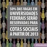 Lei de Cotas garante 50% das vagas para alunos de Escola Pública