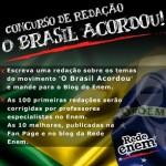 Redação Enem – Concurso 'O Brasil Acordou' já iniciou as correções
