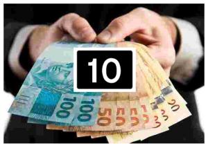 10 maiores salários