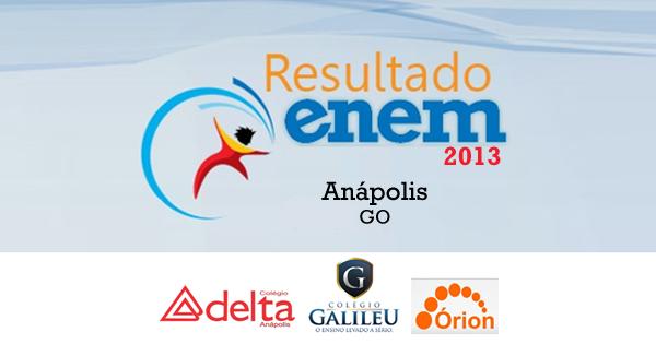 Anápolis - Resultado Enem 2013 por escolas