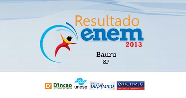 Bauru - Resultado Enem 2013 por escolas