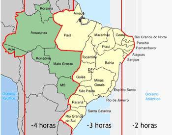 Fusos Horários Brasileiros