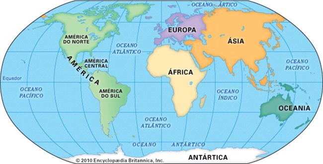 Geografia - Continentes e distribuição de terra