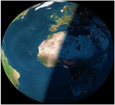 Rotação Terra - Dias e noites