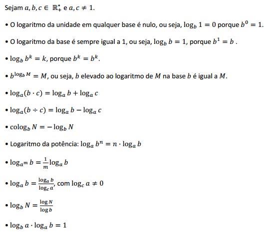 Logaritmos: definição e propriedades – Matemática Enem