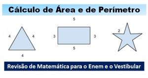 cálculo de área e perímetro destacada