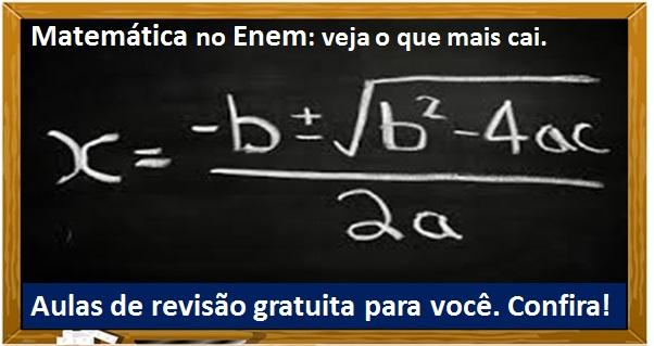 matemática enem mais cai