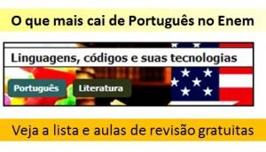 Veja o que mais cai de Português no Enem