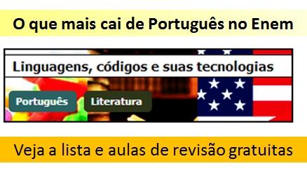 o que mais cai no Enem - Português