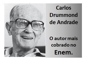 Carlos Drummond de Andrade; Autor mais cobrado no Enem