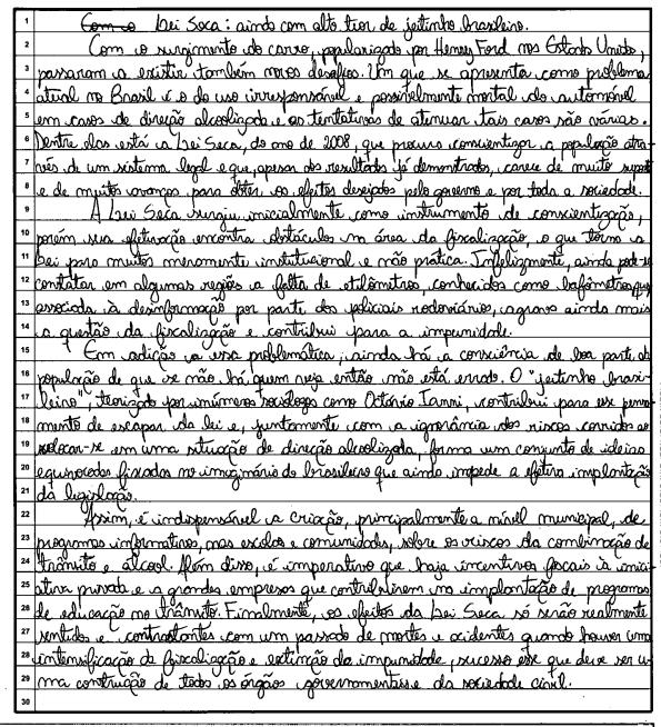 redação do enem 2013 nota 1000