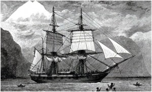 Charles Darwin e o veleiro Beagle