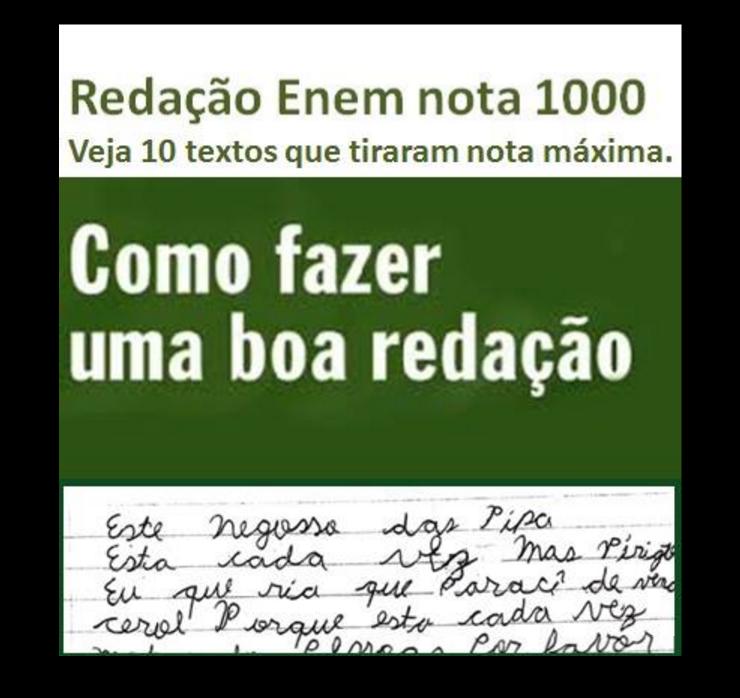 redação enem nota 1000 verde