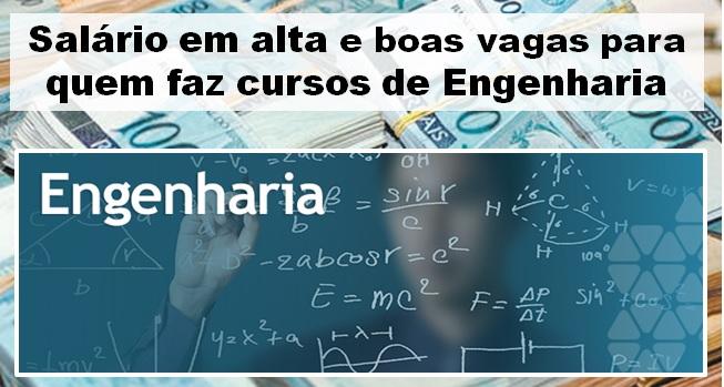 salário em alta para engenharias