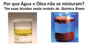 água e óleo destacada