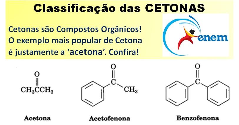 classificação de Cetonas