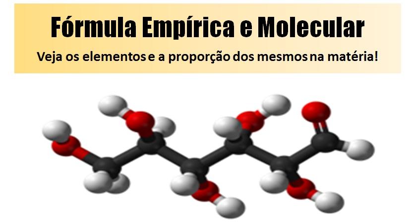fórmula empírica e molecular