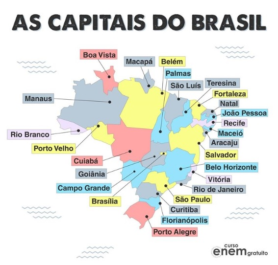 A Geografia Política do Brasil - as capitais