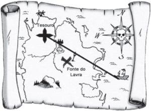Imagem de um mapa do tesouro