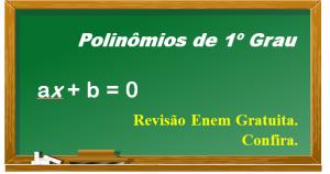 equações polinomiais 1º grau destacada