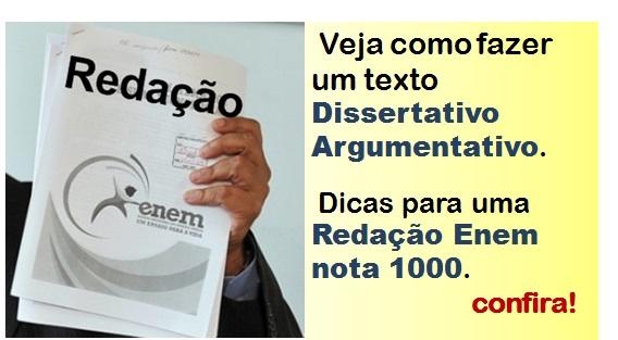 Redação Enem texto dissertativo argumentativo