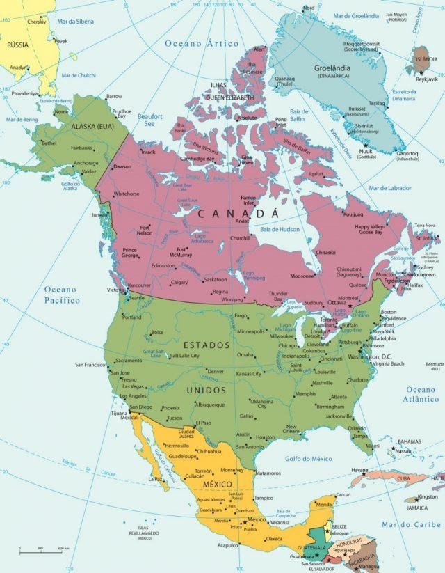 relevo do continente americano