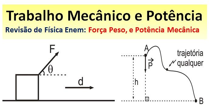 trabalho mecânico e potência