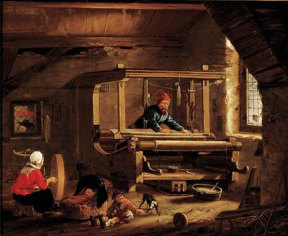 A oficina de um tecelão