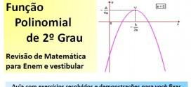 Função Polinomial do 2º Grau – Revisão de Matemática Enem