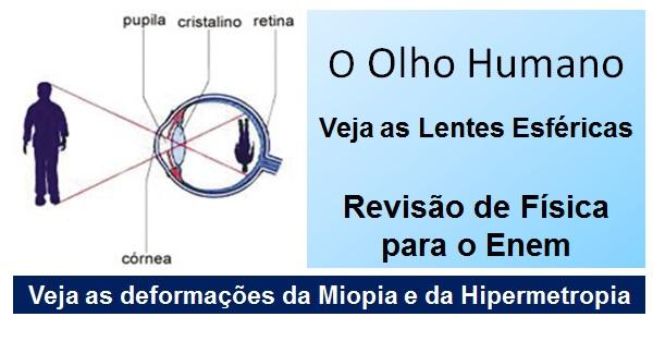 561e83e396 Lentes esféricas: Olho humano - Aula de Física Enem