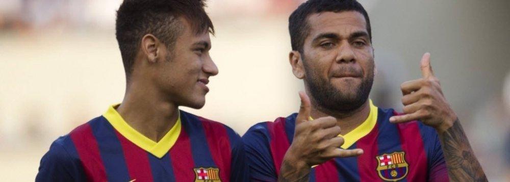 Neymar Júnior e Daniel Alves
