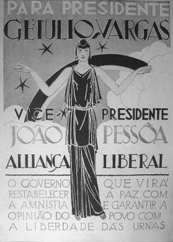 Cartaz da Campanha Eleitoral de Getúlio Vargas à Presidência