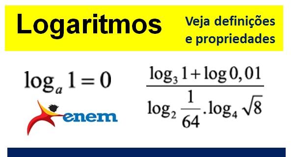 logaritmos definições e propriedades