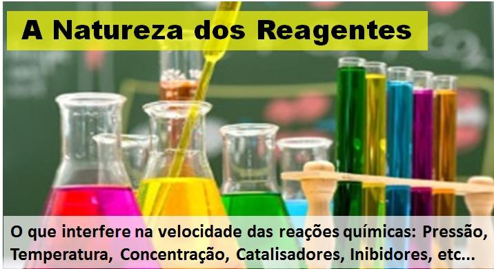 natureza dos reagentes
