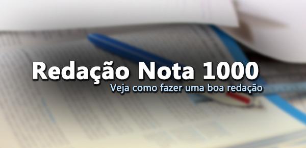 Exemplos de redação nota 1000 enem 2015