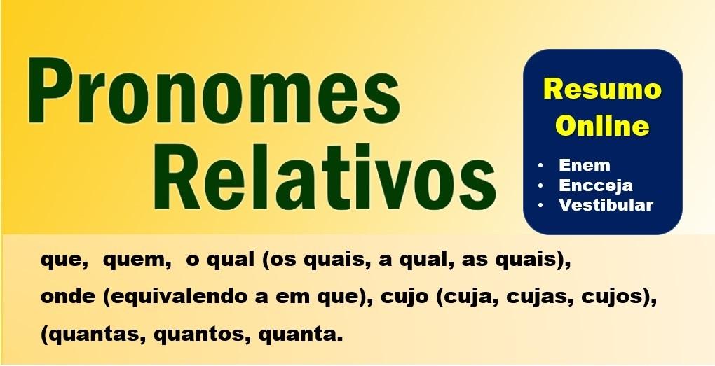 O uso dos pronomes relativos