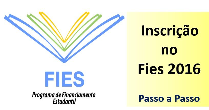fies 2016 inscrição