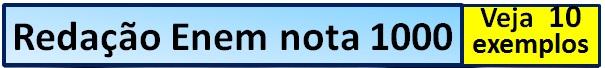 redação enem nota 1000 teaser horizontal