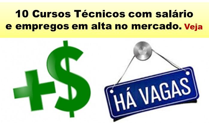 10 Cursos Técnicos com salário e emprego em alta no Brasil. Veja!