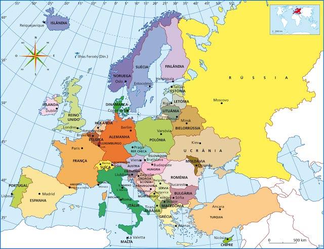 Europa - Delimitação Continental
