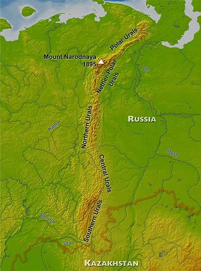 Europa - Montes Urais