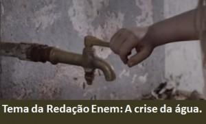redação enem a crise da água