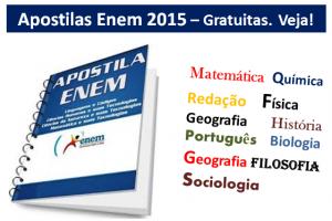 apostilas Enem 2015 gratuitas materias