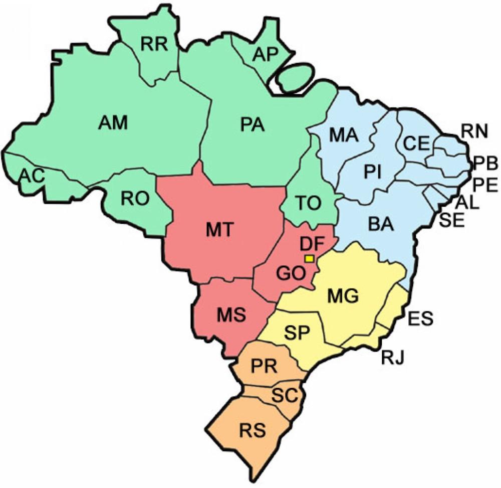 mapa do brasil por estados mapa do brasil os estados   Blog do Enem mapa do brasil por estados