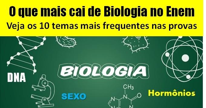 O que mais cai de Biologia no Enem