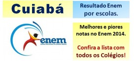 Cuiabá – Melhores e piores escolas no Resultado Enem 2014. Confira a lista completa.