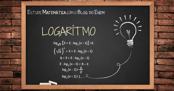 Logaritmo. Revisão com apostilas e videoaulas gratuitas – Matemática Enem