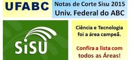 UFABC – Notas de Corte Sisu 2015 na Universidade Federal do ABC Paulista. Todos os cursos.
