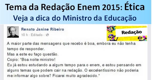 Ex ministro da educação