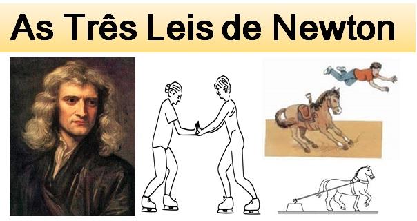 as três leis de newton destacada